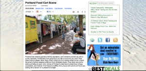 article on Portland Food Carts