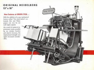 Original Heidelberg Platen Press