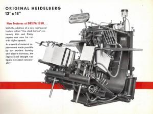 Original Heidelberg Platen Press